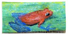 Red Tree Frog Hand Towel