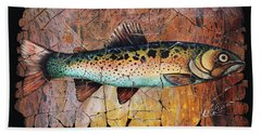 Red Trout Fresco Hand Towel