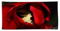 Bath Towel featuring the photograph Red Tulip by Jolanta Anna Karolska