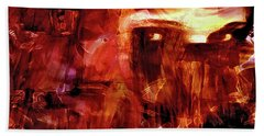 Hand Towel featuring the photograph Red Veil by Linda Sannuti
