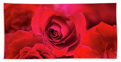 Red Velvet Hand Towel by Charuhas Images