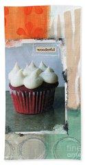 Red Velvet Cupcake Hand Towel