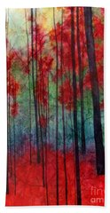 Bath Towel featuring the painting Red Velvet by Hailey E Herrera