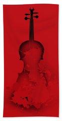 Hand Towel featuring the digital art Red Violin by Alberto RuiZ