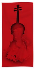 Red Violin Bath Towel