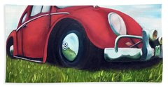 Red Vw Bath Towel