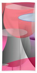 Red Wine Abstract Bath Towel