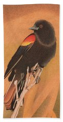 Red-winged Blackbird 3 Hand Towel
