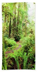 Red Woods Trail Bath Towel
