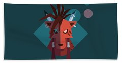 Hand Towel featuring the digital art Red Xiii by Michael Myers