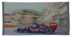 Redbull Racing Car Monaco  Hand Towel
