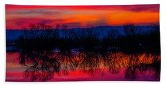Reddening Sunset Hand Towel