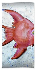Hand Towel featuring the mixed media Redfish by Walt Foegelle
