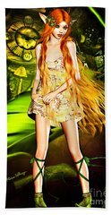 Redhead Forest Pixie Hand Towel