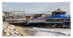 Redondo Beach Pier Shopping Bath Towel