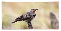 Redshafted Northern Flicker Bath Towel