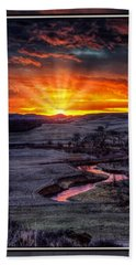 Redwater River Sunrise Hand Towel