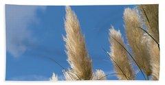 Reeds Against Sky Hand Towel