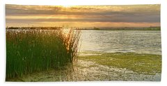 Reeds In The Sunset Bath Towel