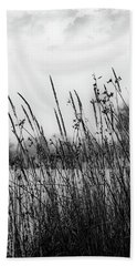 Reeds Of Black Hand Towel