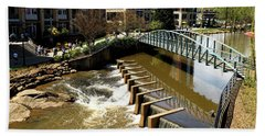 Bath Towel featuring the photograph Reedy Creek Greenville South Carolina by Bob Pardue
