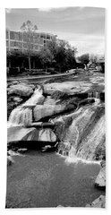 Hand Towel featuring the photograph Reedy River by Corinne Rhode