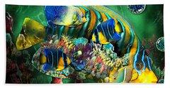 Reef Fish Fantasy Art Hand Towel