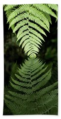 Reflected Ferns Bath Towel