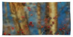 Reflecting Gold Tones Hand Towel by Elizabeth Dow