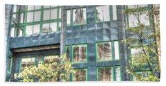 Hand Towel featuring the pyrography reflection Budapesht by Yury Bashkin