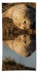 Reflection Of Seal Pup  Bath Towel