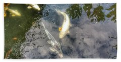Reflections And Fish 9 Bath Towel by Isabella F Abbie Shores FRSA