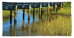 Reflections And Sea Grass Hand Towel