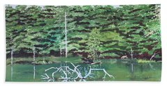 Reflections Hand Towel by Christine Lathrop