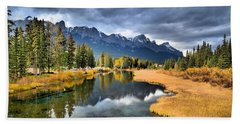 Reflections In Canmore Hand Towel