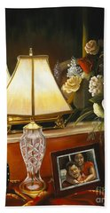 Bath Towel featuring the painting Reflections by Marlene Book