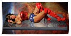 Reflections Of A Wonder Woman Bath Towel