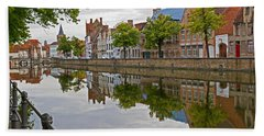 Reflections Of Brugge Hand Towel