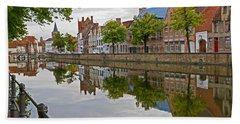 Reflections Of Brugge Bath Towel