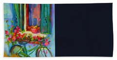 Reflections Of Burano Hand Towel by Chris Brandley