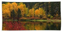 Reflections Of Fall Beauty 2 Bath Towel by Lynn Hopwood
