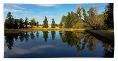 Reflections Of Life Bath Towel by Pamela Walton