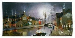 Hand Towel featuring the painting Reflections Of The Black Country by Ken Wood