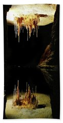 Reflections Of The Underworld Bath Towel by Marion Cullen