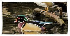 Reflections Of You And Me Wildlife Art By Kaylyn Franks Bath Towel