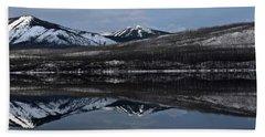 Reflections On Lake Mcdonald 3 Bath Towel