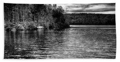 Reflections On Limekiln Lake Bath Towel by David Patterson