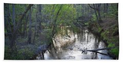 Hand Towel featuring the photograph Reflections On The Congaree Creek by Skip Willits