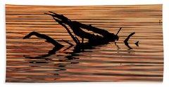 Reflective Abstract Bath Towel