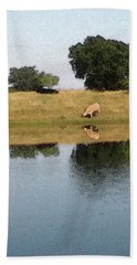 Reflective Cow Bath Towel by Donna G Smith